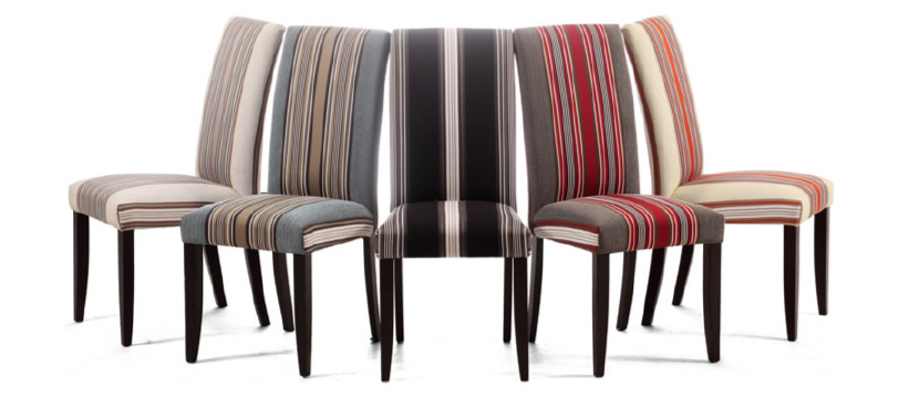 シーンに合わせて好きな洋服を選ぶように、 家具の張地を自由に変えられる。