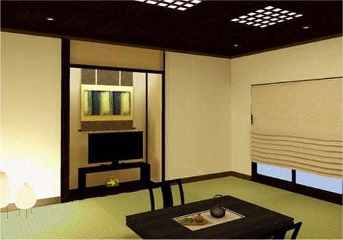 家具リース例|旅館・ホテルの客室10畳