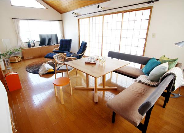家具中心のリフォーム リビングテーブルセット